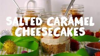 No-bake Salted Caramel Cheesecakes