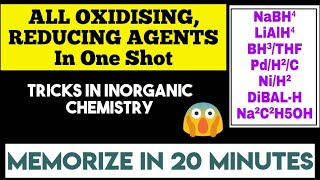 How to Memorize All OXIDISING AND REDUCING AGENTS in 20 Minutes | NEET Inorganic TRICKS
