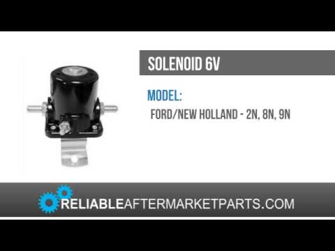 New Holland Tractor 6V 3 Post Starter Solenoid  2N 8N 9N 8N11450 New Ford