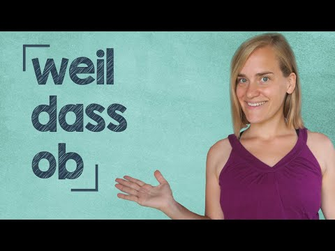 German Lesson - Subordinating Conjunctions - Part 1: weil -