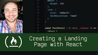 Creating a Landing Page with React  (P5D88) - Live Coding with Jesse