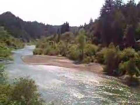 River Near the Town of Monte Rio in California