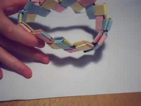 chainlink bracelet origami youtube