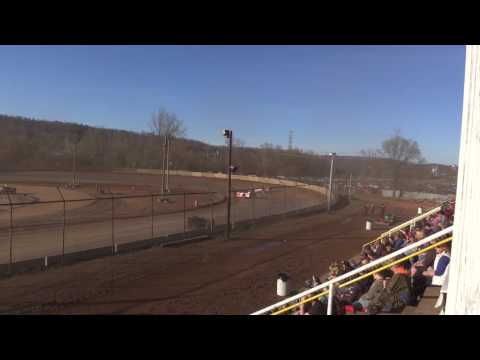 Legendary Hilltop Speedway Late Model Heat 4-8-17