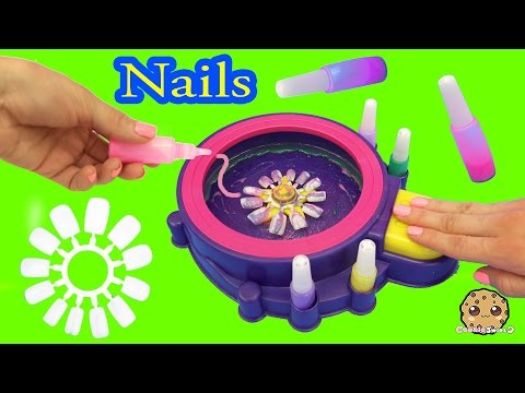 Fail - Make Your Own Custom Nails With Glitter Nail Swirl Art Kit Maker  - Cookieswirlc Video
