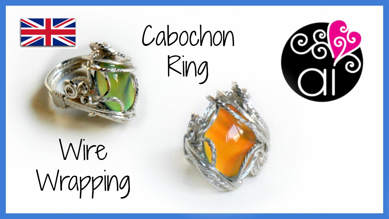Wire wrapping Cabochon Ring Tutorial | ENG Version - YouTube