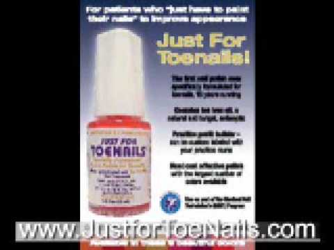 JustForToenails Nail Polish Podiatry Advertisement for fungal thick nails