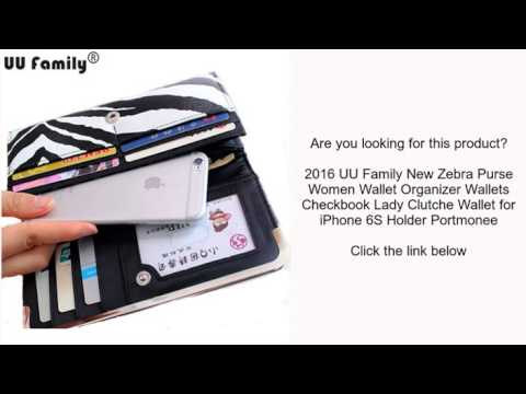 2016 UU Family New Zebra Purse Women Wallet Organizer Wallets Checkbook Lady Clutche Wallet