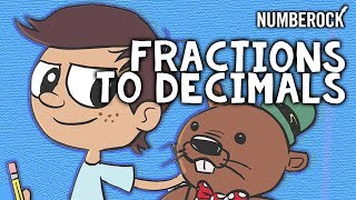 Converting a Fraction to a Decimal Song Rap by NUMBEROCK