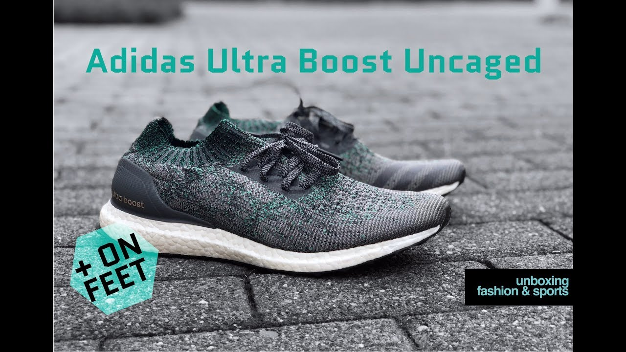hot sale online 3146f 31789 Adidas Ultra Boost Uncaged 'Gry Two/Gry Five/Green' | UNBOXING & ON FEET |  fashion shoes | 2018 | 4K