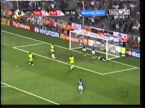 2006 (June 23) France 2-Togo 0 (World Cup).mpg