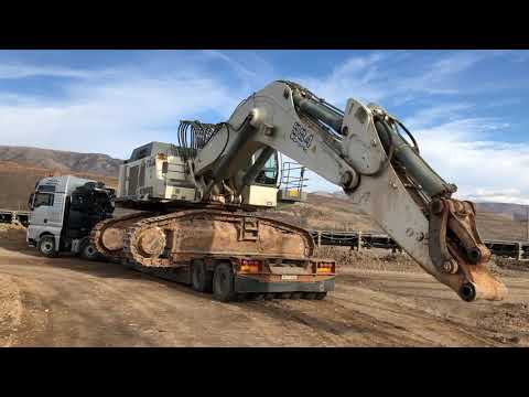 Loading And Transporting The Huge Liebherr 984 By Side - Fasoulas Heavy Transports