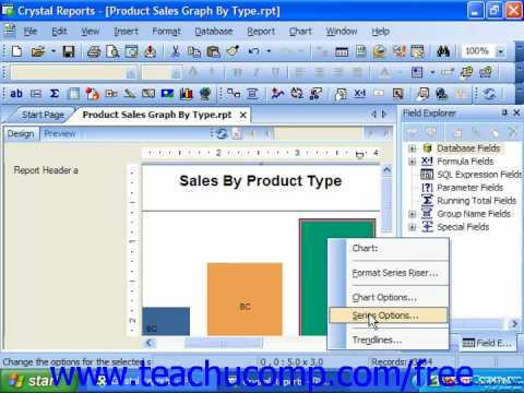 Crystal Reports Tutorial Formatting a Data Series Business Objects ...
