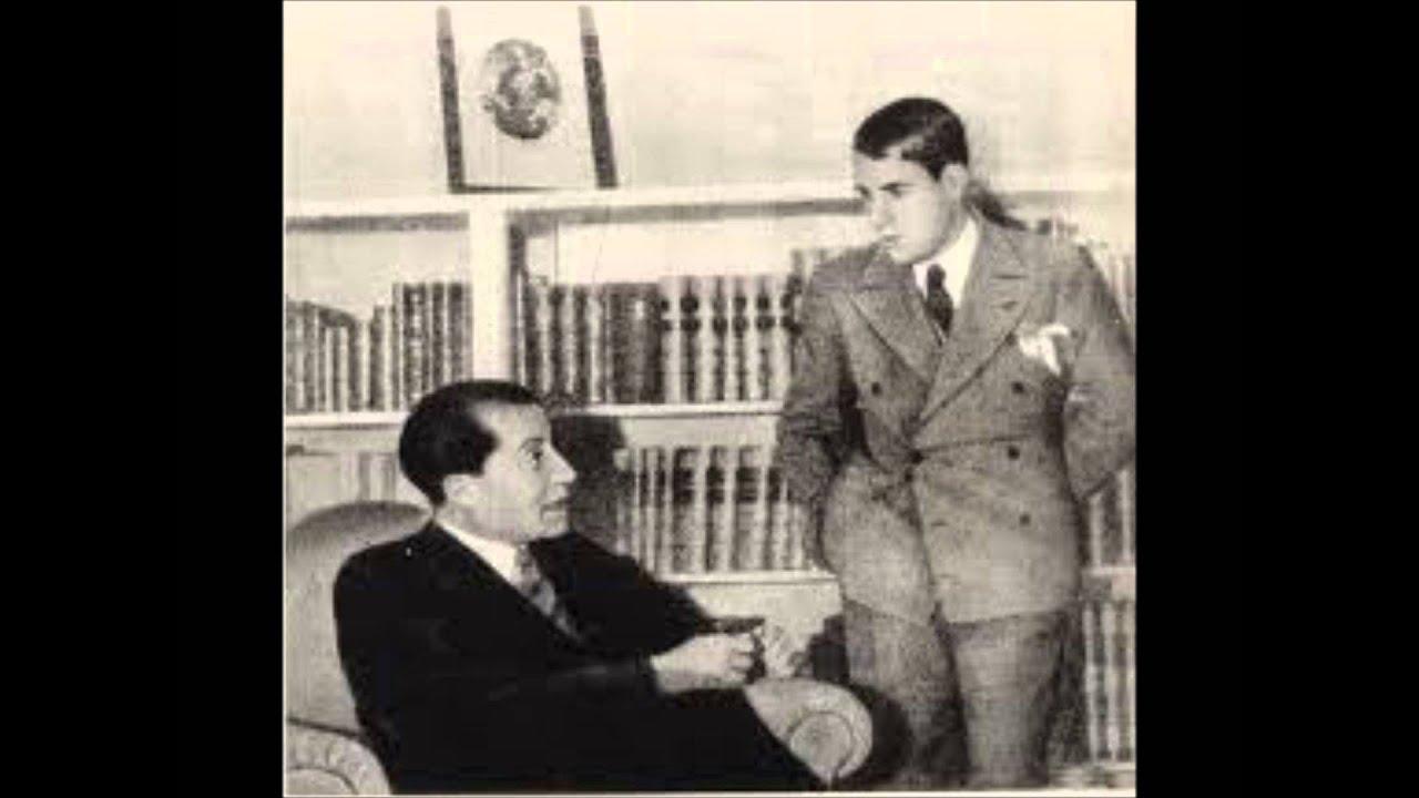 Discurso de Jose Antonio Primo de Rivera. Fusión de FE y JONS en el teatro Calderón de Valladolid.