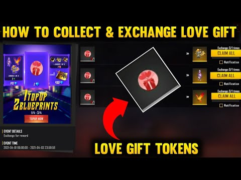 How To Exchange Love Gift Tokens |Collect Love Gift Tokens & Exchange Rewards|FreeFire