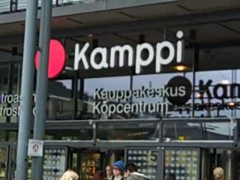 Kamppi Shopping Center in downtown Helsinki, Finland.