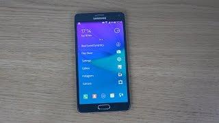 Nokia Z Launcher Samsung Galaxy Note 4 - Review (4K)