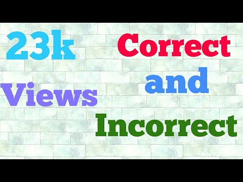 Correct and incorrect words