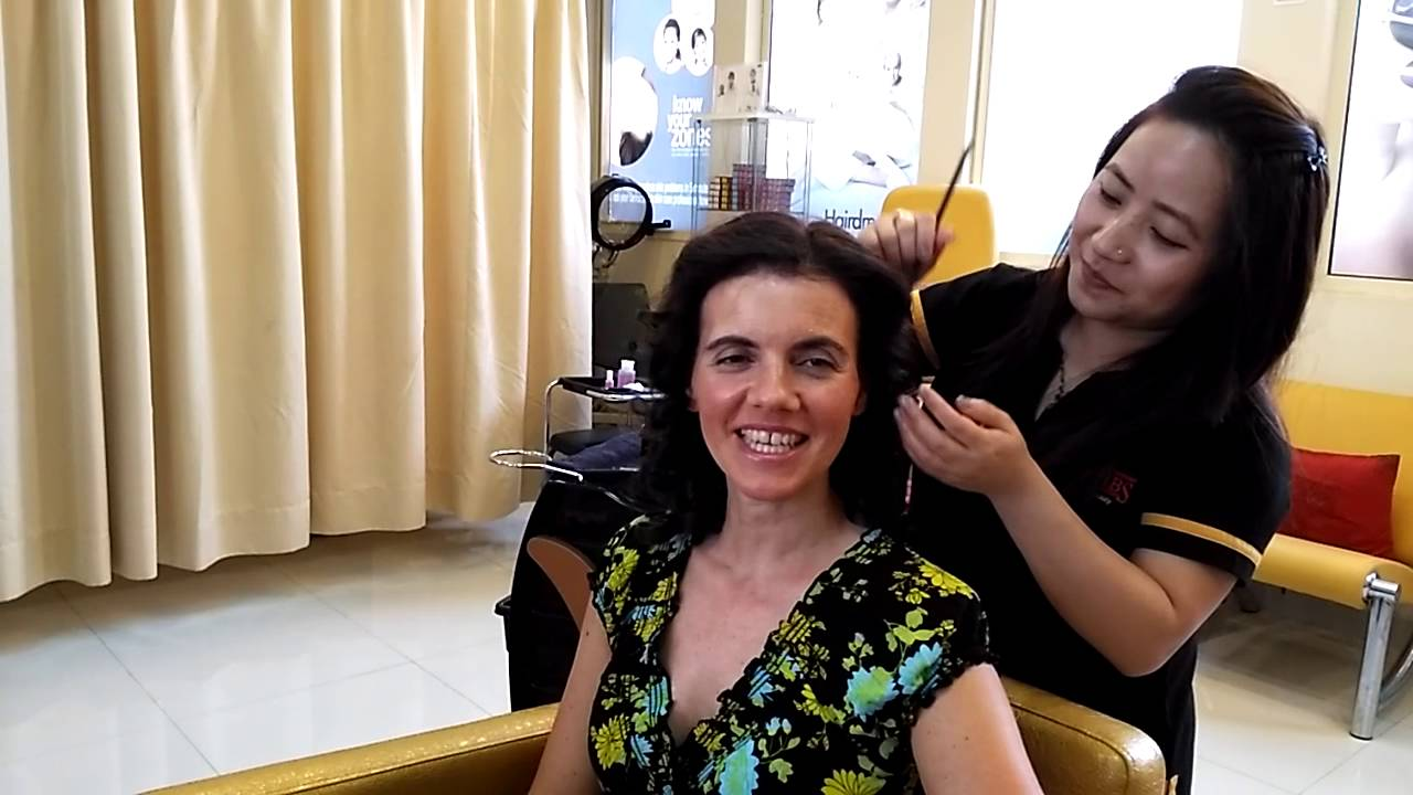 about her hair do experience at habibs salon doha qatar - youtube