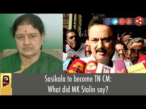 Sasikala to become TN CM: What did MK Stalin say?
