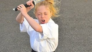 The Karate Kid Nine year old  Jesse Jane McParland shows Britain's Got Talent