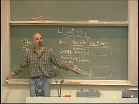 Lecture 06. Community Ecology I (Biology 1B, Fall 2010, UC Berkeley)