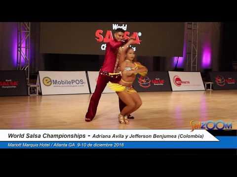 Adriana Avila y Jefferson Benjumea (Colombia) (World Salsa Championships)