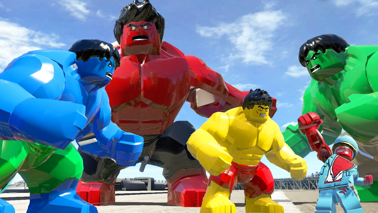 red hulktransformation vs green hulk and blue hulk vs