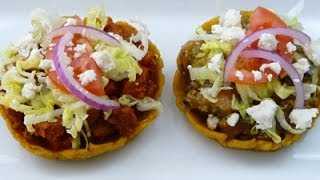 Mexican Sopes Recipe! filled with Pork Rinds in Green Sauce,