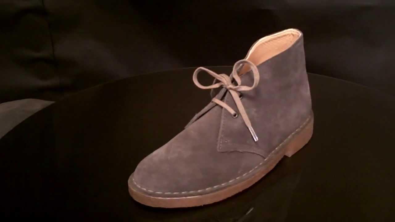 Clarks Originals Desert Boot Dark Grey Suede Youtube