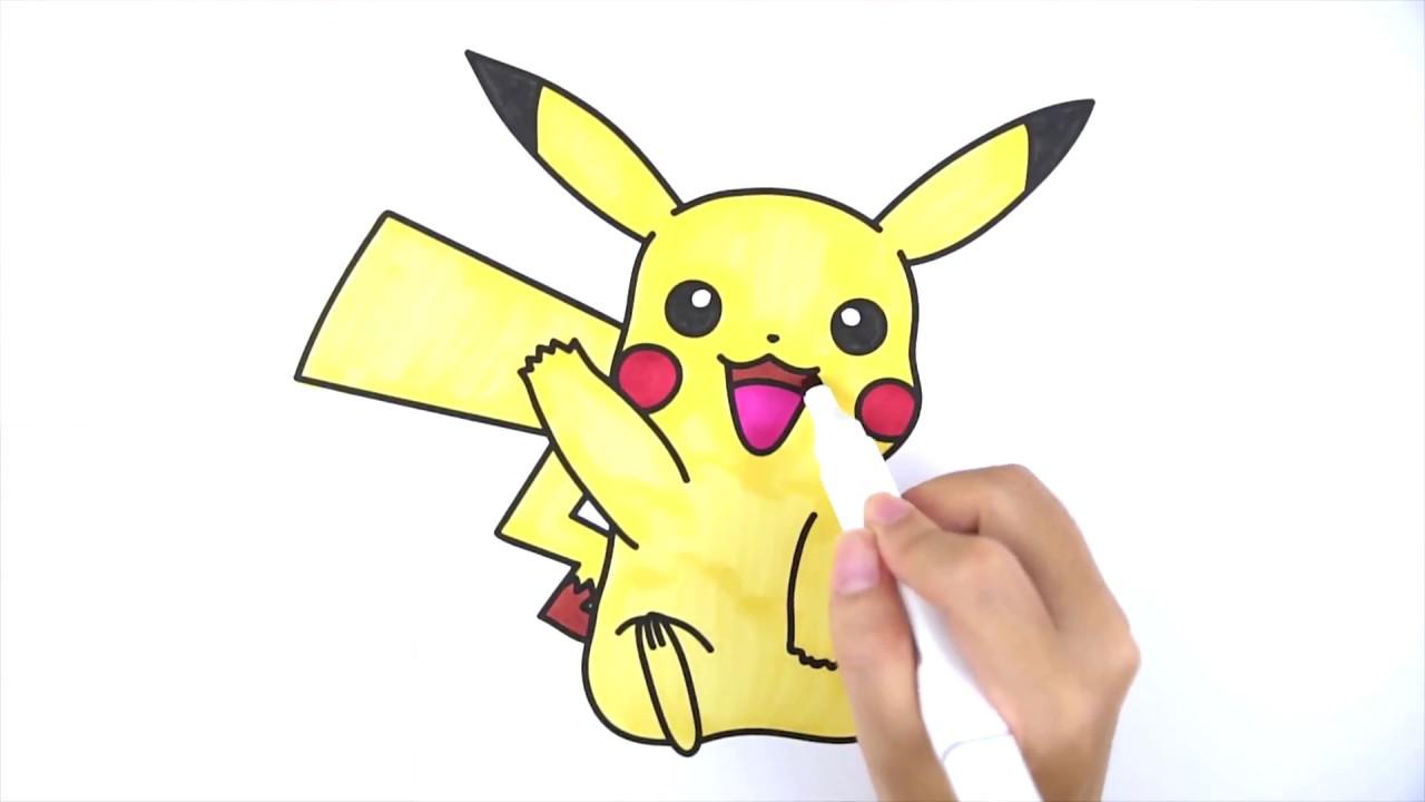 Cara Menggambar Dan Mewarnai Pikachu Untuk Anak Anak Youtube