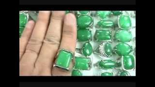 Wholesale Green Jade Fashion Rings Wholesalesarong.com
