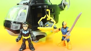 Imaginext Batman Copter with Justice league Nightwing Slade DC Superheroes Just4fun290