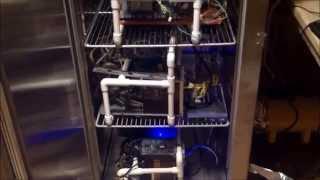 Bitcoin Mining freezer GPU rigs