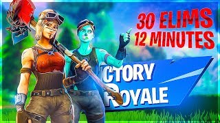 FASTEST 30 BOMB EVER?! 32K DUO WIN W/ TOMMO - Fortnite