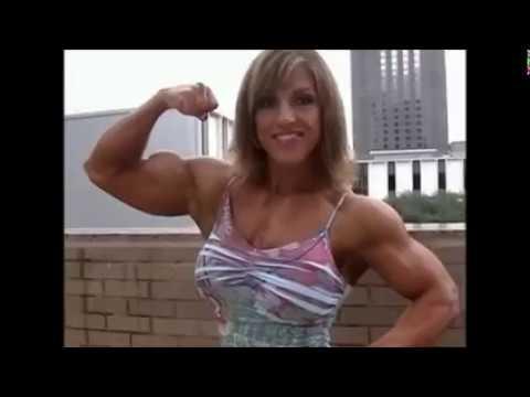 Huge Fbb Flexing Biceps And Pecs