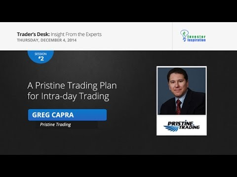 A Pristine Trading Plan for Intra-day Trading | Greg Capra