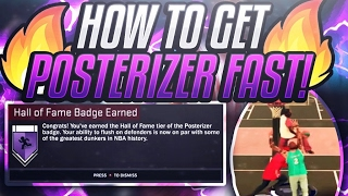 how to get posterizer badge fast   all positions   nba 2k17