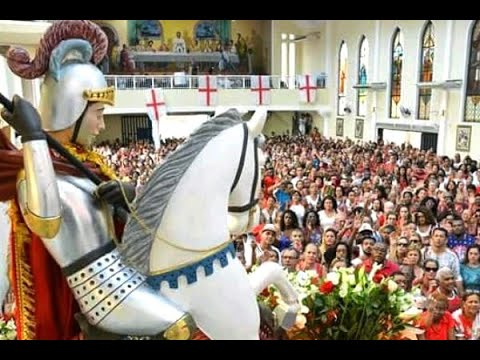 Cariocas comemoram o dia de São Jorge, o santo guerreiro | SBT Brasil (23/04/18)