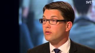 Val 2014 Jimmie Åkesson utfrågas