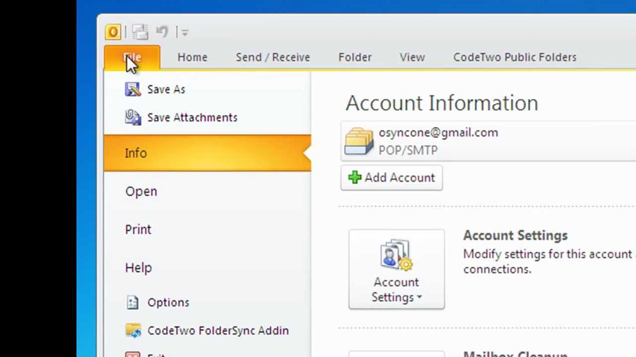 Synchronize pairs of Outlook folders with one click - free tool