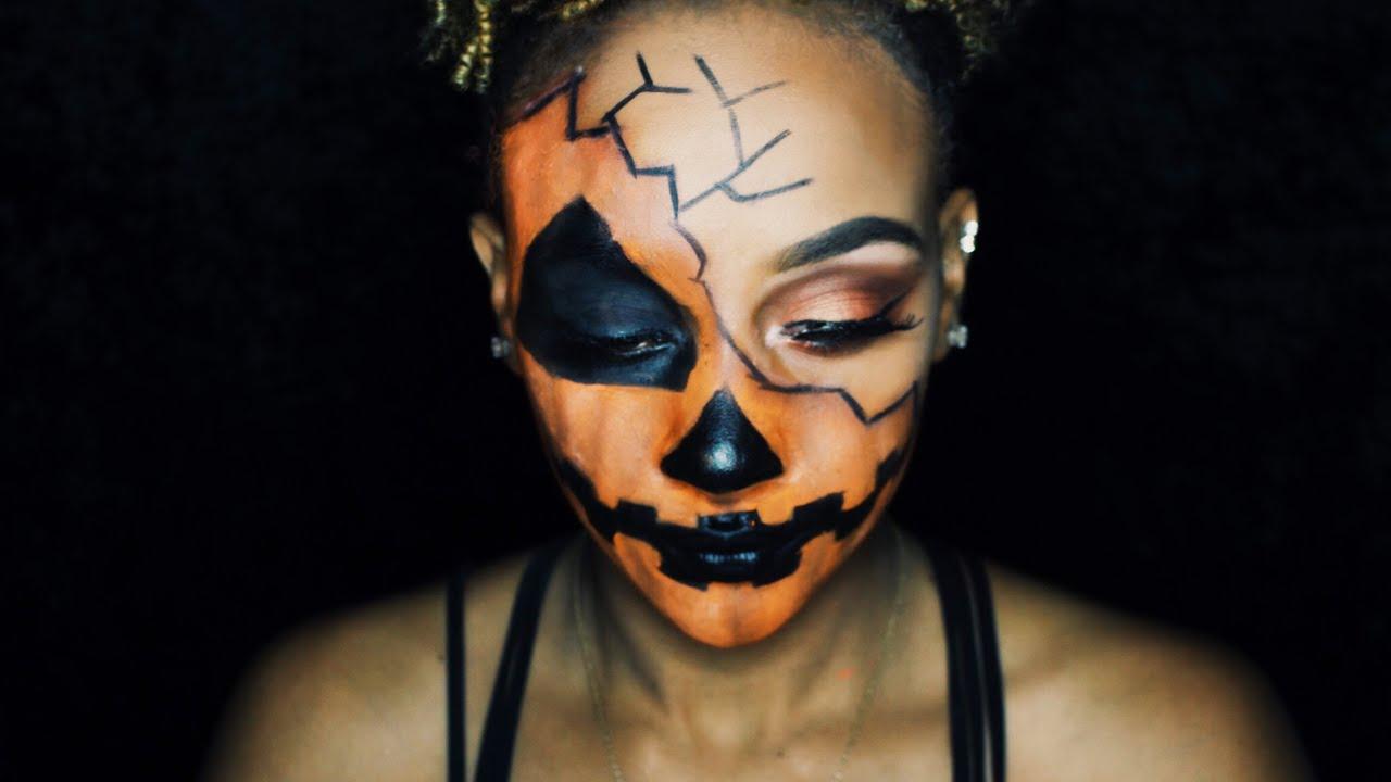 Uncategorized Pumpkin Face Makeup pumpkin halloween makeup tutorial youtube tutorial