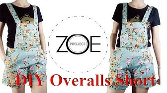 DIY Overalls short with zoe diy