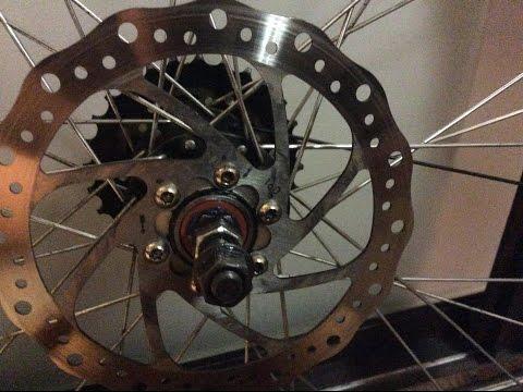 3#как переделать заднюю втулку велосипеда с насыпных подшипников на промышленые