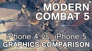 Modern Combat 5: iPhone 4 vs. iPhone 5 Graphics Comparison - AppSpy.com