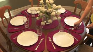 Stop struggling with rectangular placemats on a round table, and no...
