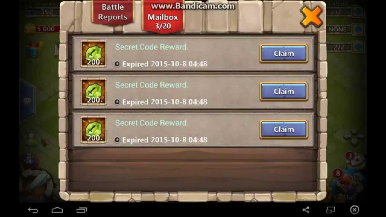 Castle Clash Secret Codes Xenotrail