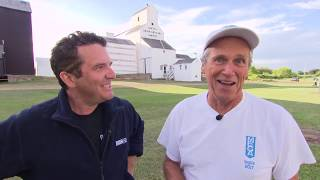 Rick Paints a Grain Elevator