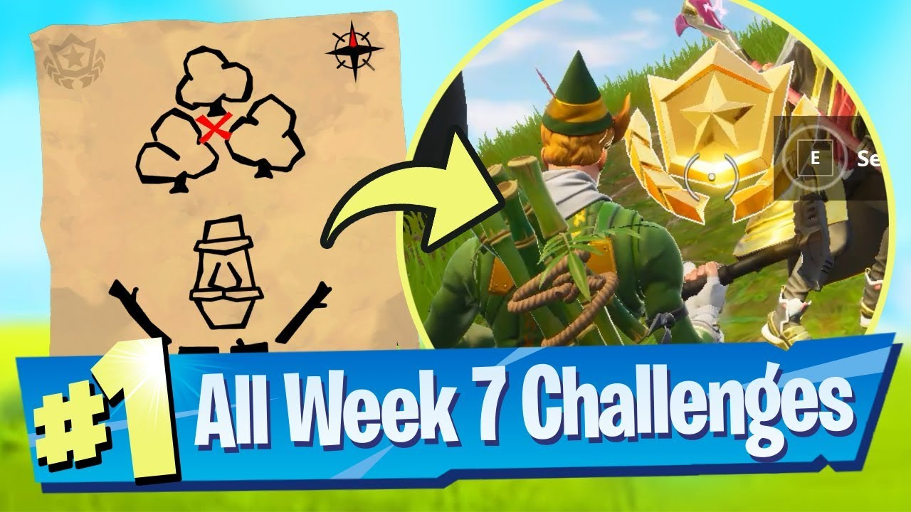 Fortnite Season 5 Week 7 Challenges Guide Dusty Divot Treasure Map