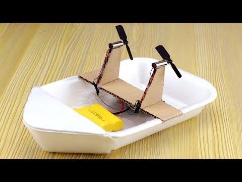 How to Make Mini Remote Control Boat - DIY Mini RC Boat Tutorial